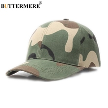 BUTTERMERE Camouflage Baseball Caps Men Women Army Snapback Cotton Male Female Duckbill Outdoor 2019 New Golf Hat