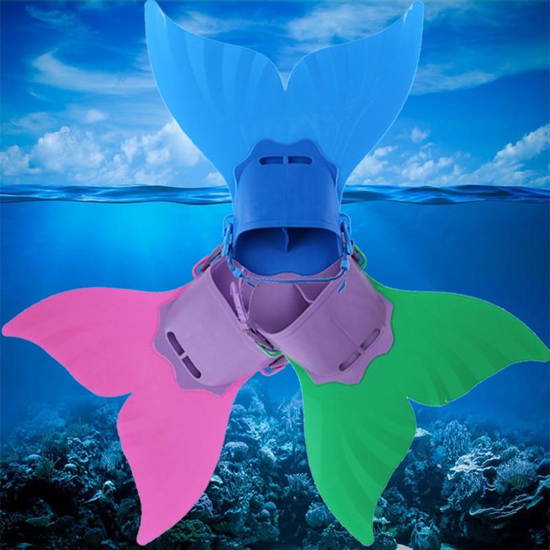 Kids Children Swimming Fins Training Flipper Mermaid Swim Fin Swimming Foot Flipper Diving Feet Tail Monofin