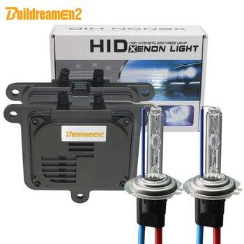 Buildreamen2 55W 10000LM AC Xenon Kit Ballast Bulb H1 H3 H4 H7 H8 H11 9005 9006 9007 4300K Warm White Car Headlight Fog Light