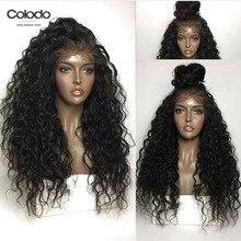 Кудрявые человеческие волосы, парик, предварительно выщипанные, натуральный черный цвет, плотность 150%, бразильские волосы Remy, бесклеевые парики на кружеве для черных женщин