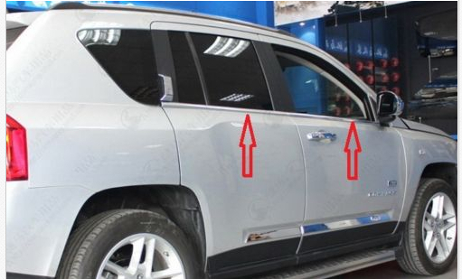 <font><b>Chrome</b></font> Window Trim sill lines For <font><b>JEEP</b></font> <font><b>COMPASS</b></font> 2007 - 2011 <font><b>2012</b></font> image