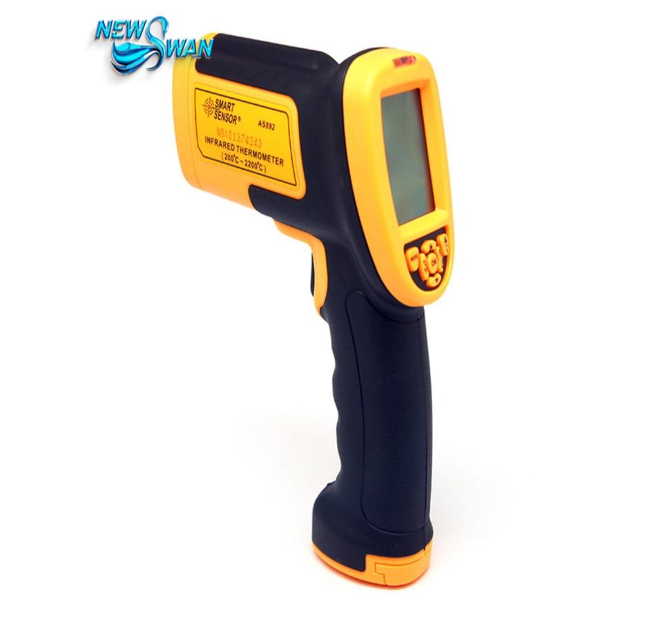 Цифровой ИК Бесконтактный лазерный инфракрасный термометр Точка Gun 200C ~ 2200C (392f ~ 3992f) as892 Температура метр