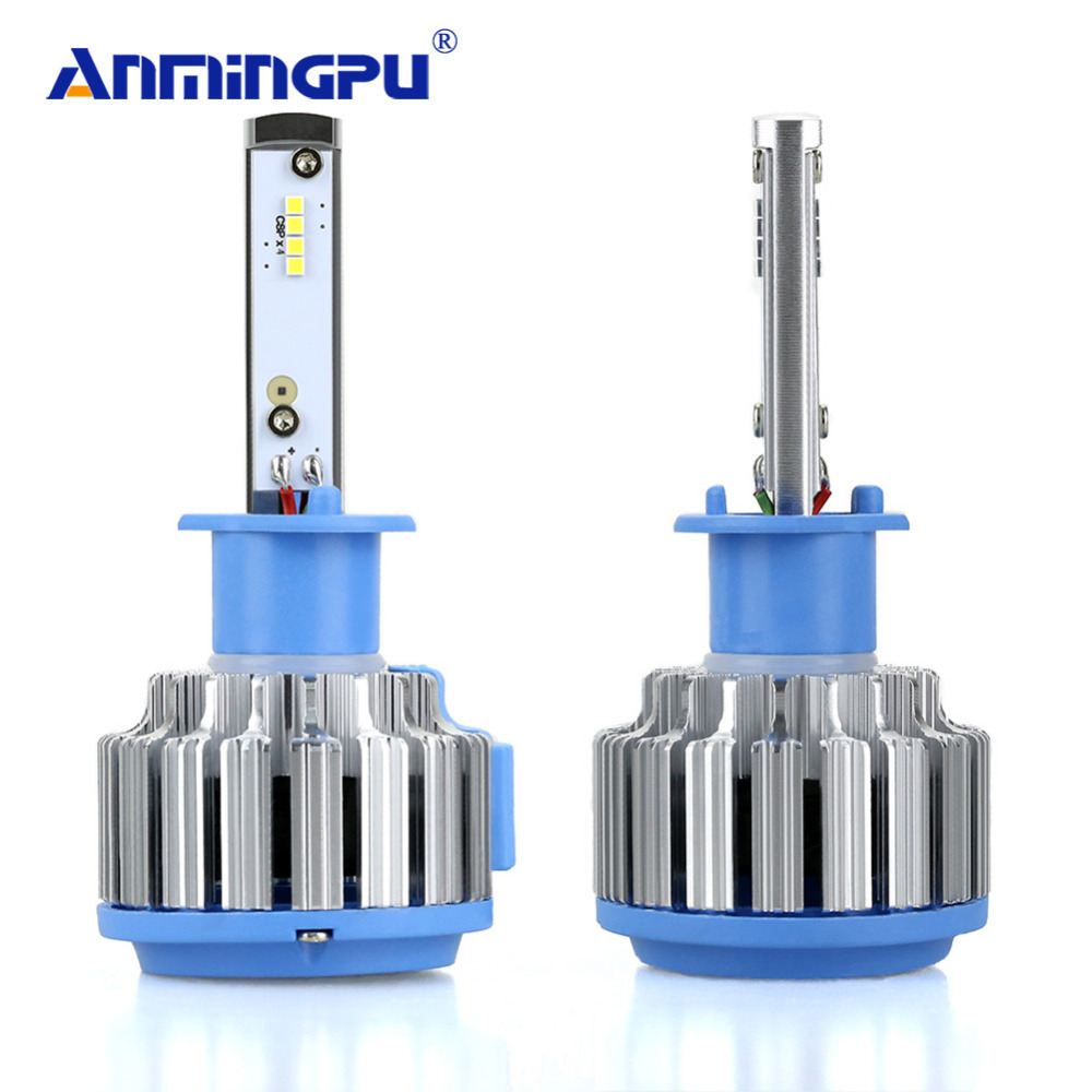 Anmingpu 7000lm Set Car Light Headlight Bulbs H1 Led Lamp