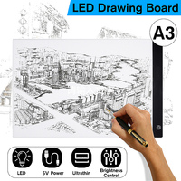 Digital Tablets A3 LED Graphic Artist Thin Art Stencil Drawing Board Light Box Tracing Table Pad LED Writing Painting Board Pad