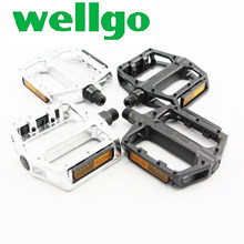 Wellgo B087 pedal Mountain MTB Bike Bearing Pedal Ultralight Aluminum alloy reflector Pedal Pedal Bicycle Cycling Accessories стоимость