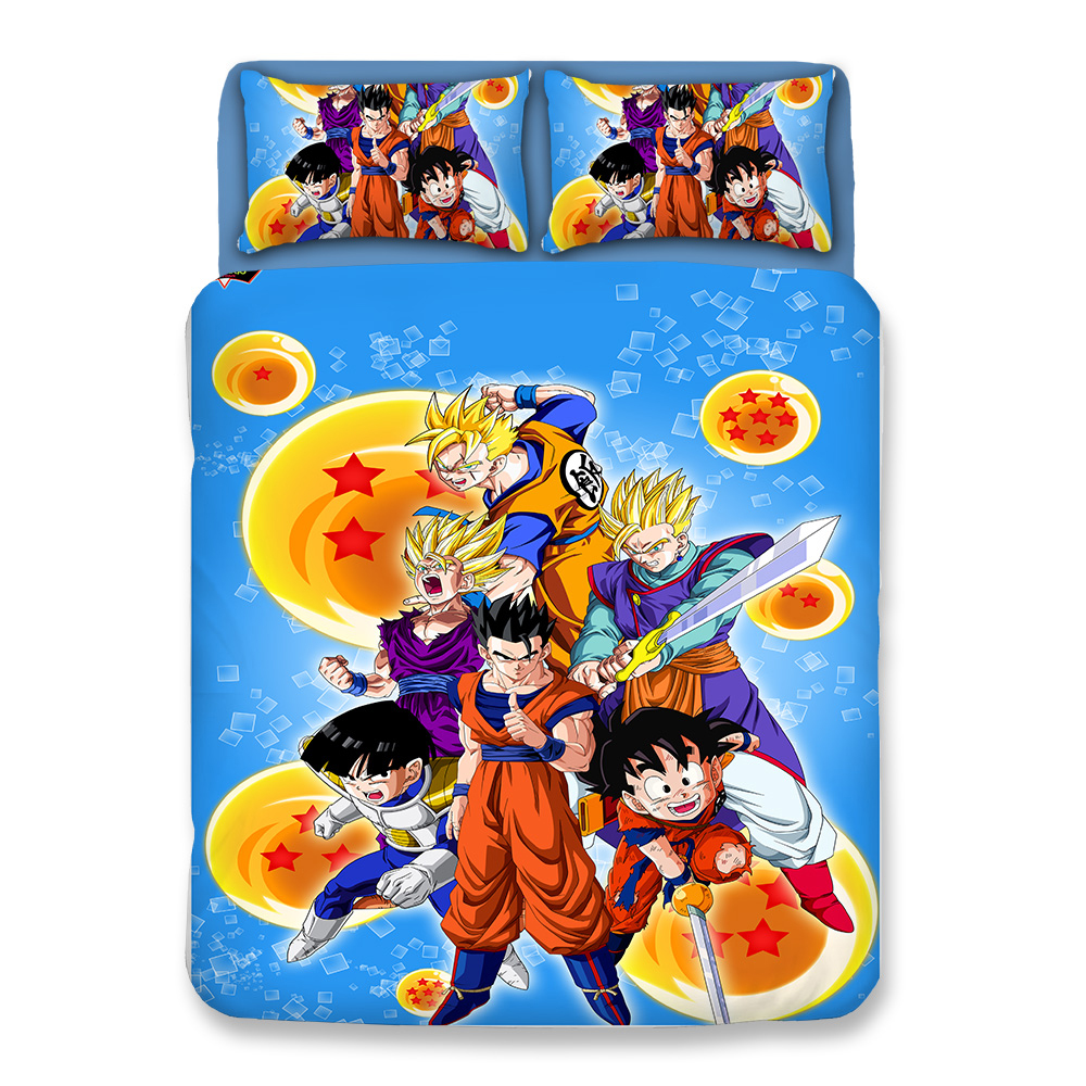 Japanese Cartoon DRAGON BALL Bedding US Twin Full Queen King UK Single Double Size Duvet Cover