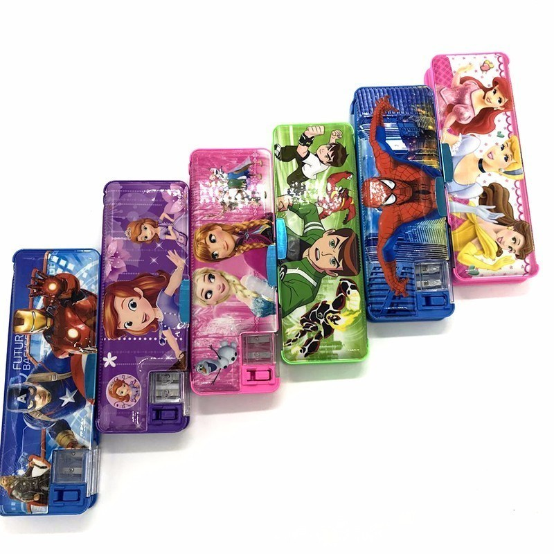 School Gifts Boxes Pupil Men Multifunctional Creative Disney Child Pencil case Box Primary School Student material escolar 220909 school gifts boxes pupil men multifunctional creative disney child pencil box primary school student