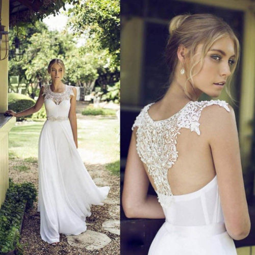 encaje blanco vestido de boda de playa 2017 vestidos de novia