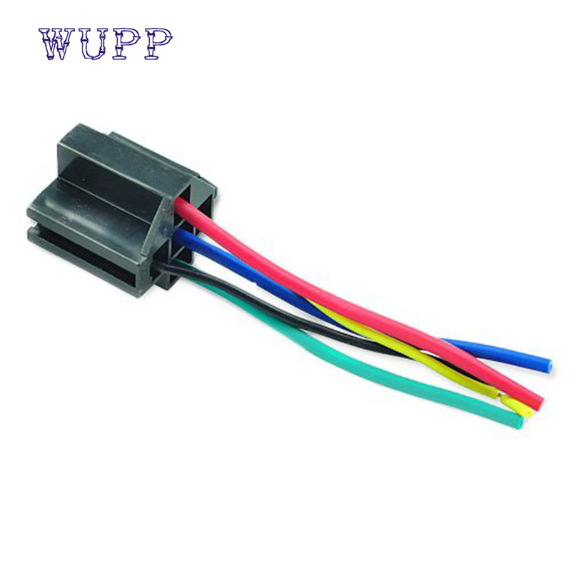 Wire Relay Socket 5 Pin Cable Harness Connector Dc 12v For Auto Car Soquete Enchufe Fashion