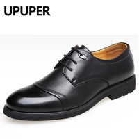 2017 Spring Autumn Men Leather Dress Shoes Soft Bottom Pointed Toe Classic Fashion Business Oxford Shoes