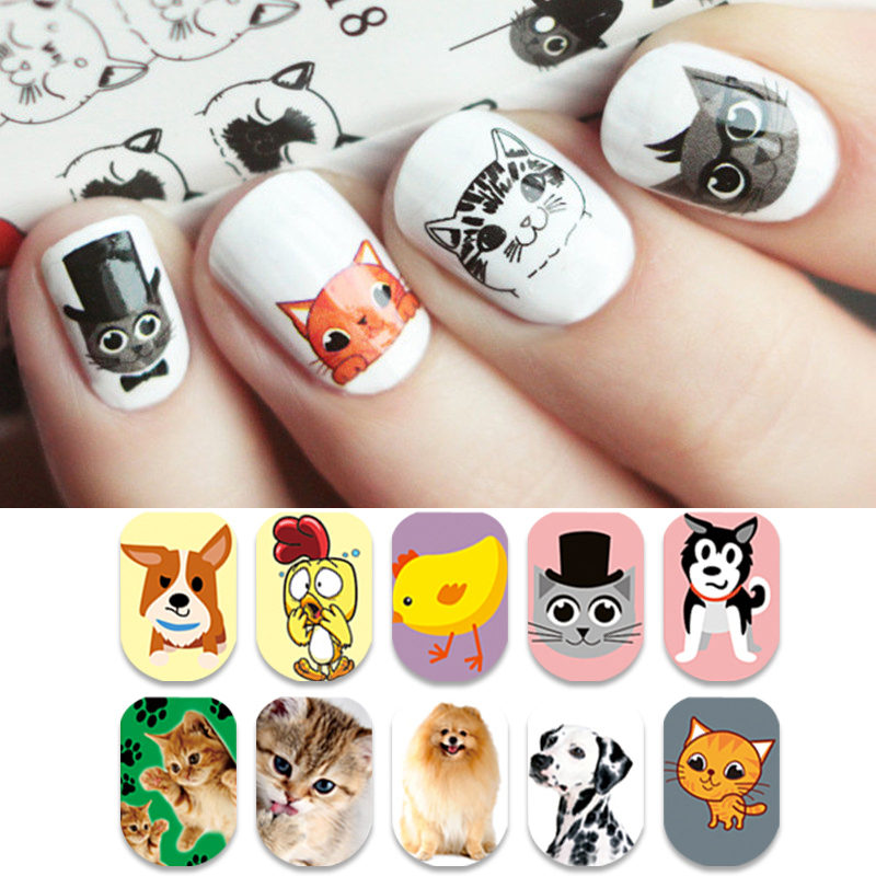 Born pretty cute animal series nail water decal cat dog rabbit born pretty cute animal series nail water decal cat dog rabbit dreamcatcher butterfly manicure nail art transfer sticker in stickers decals from beauty prinsesfo Image collections