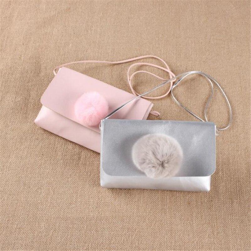Neue Kinder Münze Taschen Mit Hairball Geldbörse Pu Solide Einfache Münze Tasche Kinder Geburtstag Geschenk Für Kleine Mädchen Monedero