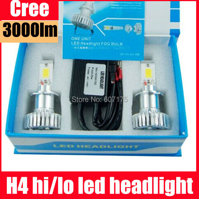 ФОТО wholesale CREE high power LED 40w h4 hi lo h7 h11 h10 9005 9006 led kit led headlight kit H4 BI XENON led kit headlamp 10 sets