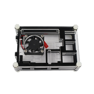 Image 4 - Raspberry Pi 9 layer Acry for Raspberry Pi 3 Raspberry Pi 2 B Raspberry Pi 3 B+ black red Sliced 9 Layers Case Box + Cooling Fan