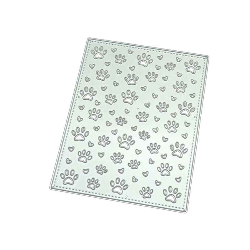 Paw Prints DIY Metal Cutting Dies Stencil Scrapbooking Album Stamp Paper Card Art Crafts Decor  CORE