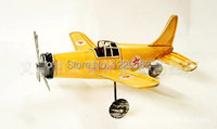 Free Shipping Antique Finishing Vintage Airplane Model Handmade Retro Metal Airplane Craft Home Pub Decoration Creative