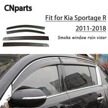 CNparts 4 шт. АБС для Kia Sportage R 2011- автомобильный Стайлинг Дымовое Окно Солнцезащитный козырек Сохраняет свежий воздух конвекция аксессуары