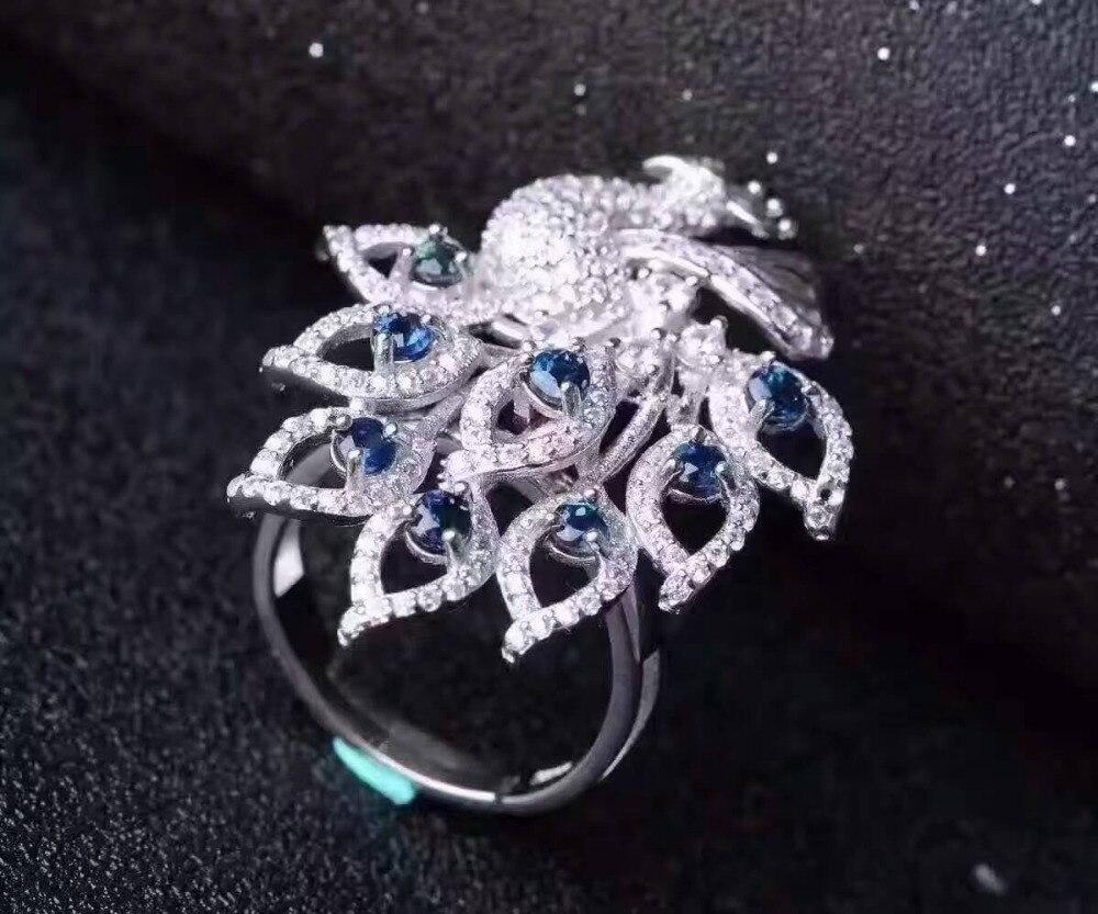 Natural blue sapphire gem Ring Natural red ruby Ri.