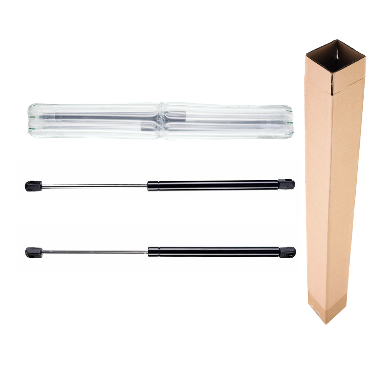 Set of 2 rear window glass lift supports shock gas struts for ford bronco ii 1984