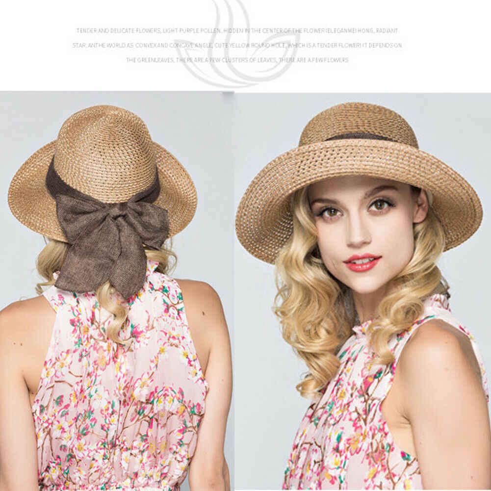 2019 новые летние повседневные женские женская соломенная шляпа солнцезащитные шляпы Панама Летняя Пляжная пляжная шляпа