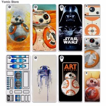 Darth Vader Star Wars Bb-8 Duvet (1) skin hard White phone case cover for Sony Xperia z5 z4 z3 z2 z1 M5 M4 Aqua XA