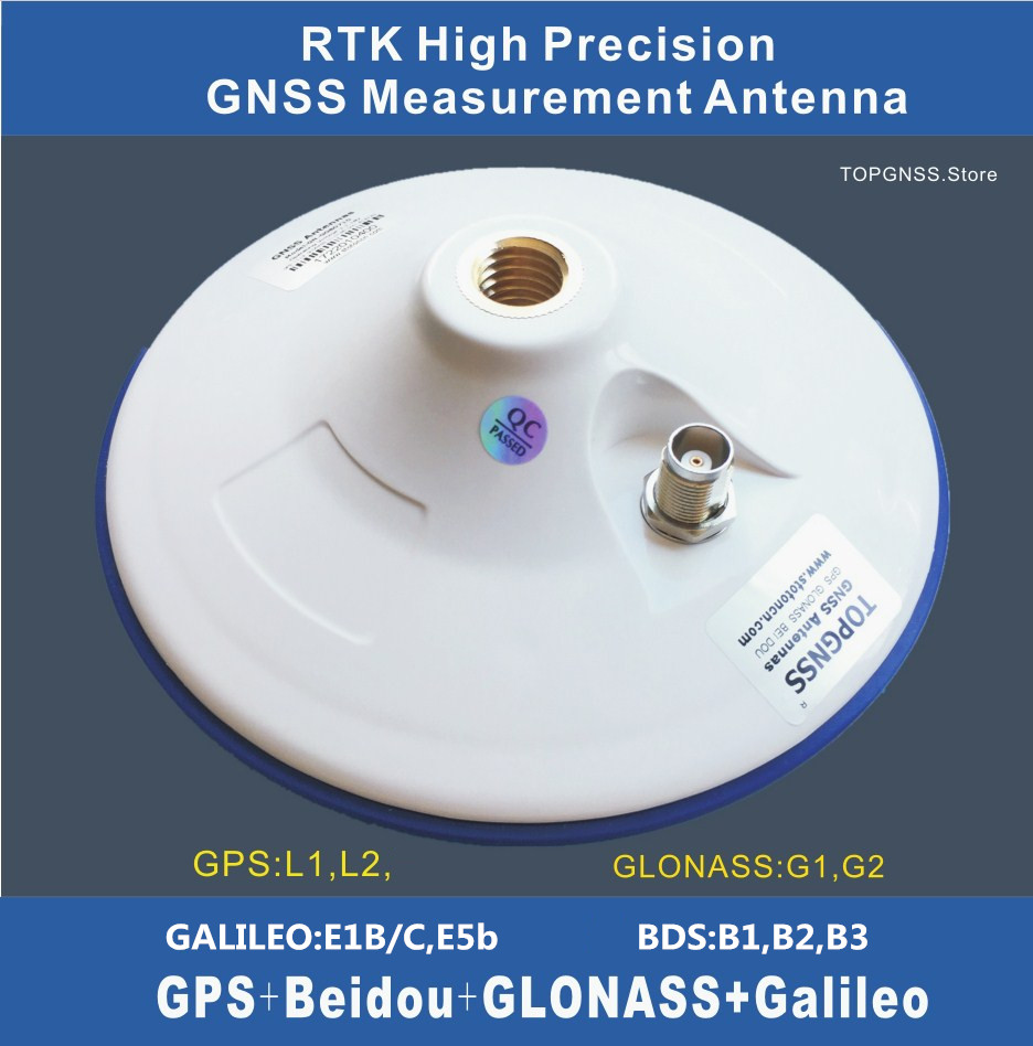 High-precision RTK GNSS Antenna ZED-F9P GPS Antenna CORS Antenna TNC 3.3-18V  High Gain Measurement GNSS GPS GLONASS GALILEO BDS