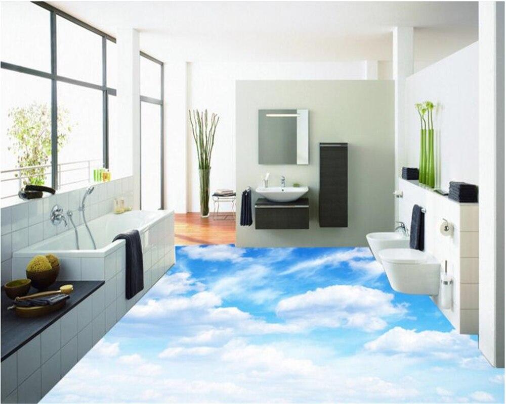 beibehang High definition fashion interior decoration wallpaper pure blue sky white cloud living room bedroom 3d flooring tile blue sky чаша северный олень