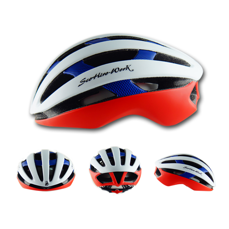 ФОТО 2017 Hot Sale Cycling Helmet Ultralight Road Bicycle Helmet EPS+PC Men Women Bike Head Protect 58-62cm 25 Air Vents Breathable
