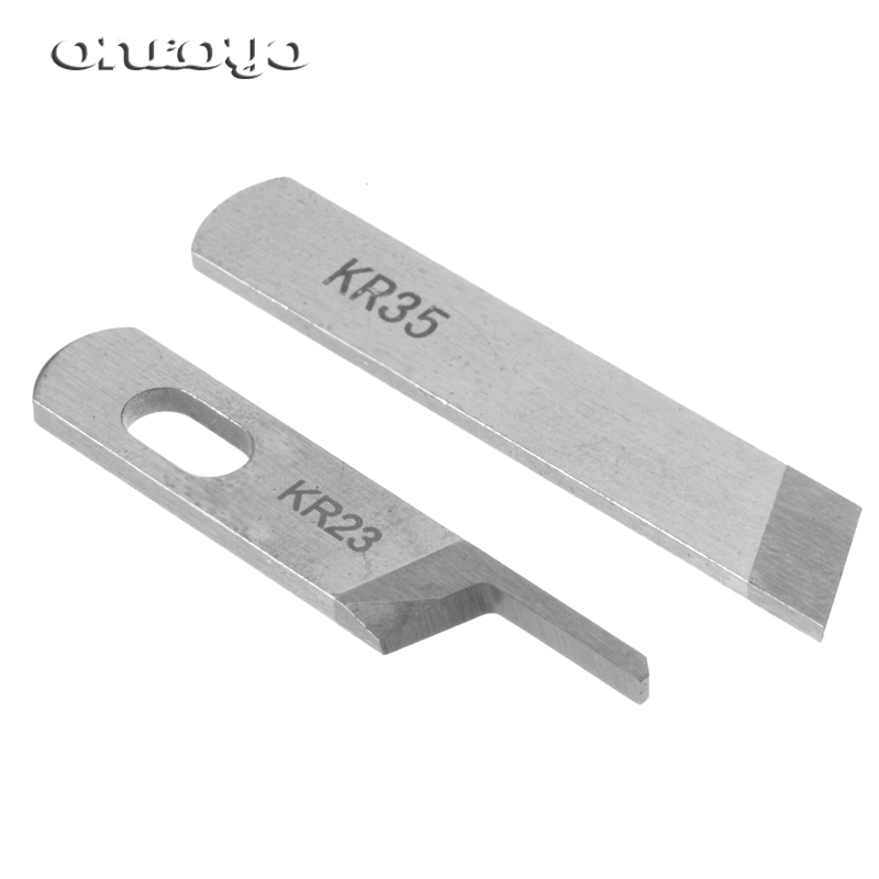 10 шт KR23 & KR35 нож/лезвие, промышленный сергер/оверлок швейная машина частей, для JUKI,Siruba,Pegasus,Jack...