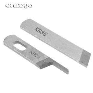 10PCS KR23 KR35 Knife Blade,Industrial Serger Overlock Sewing Machine Parts For JUKI Siruba Pegasus Jack...(China)