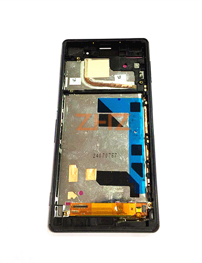For Sony Xperia Z3 LCD Display Touch Screen Digitizer Assembly Frame for Xperia Z3 L55t D6633 D6683 LCD Display Repair Parts