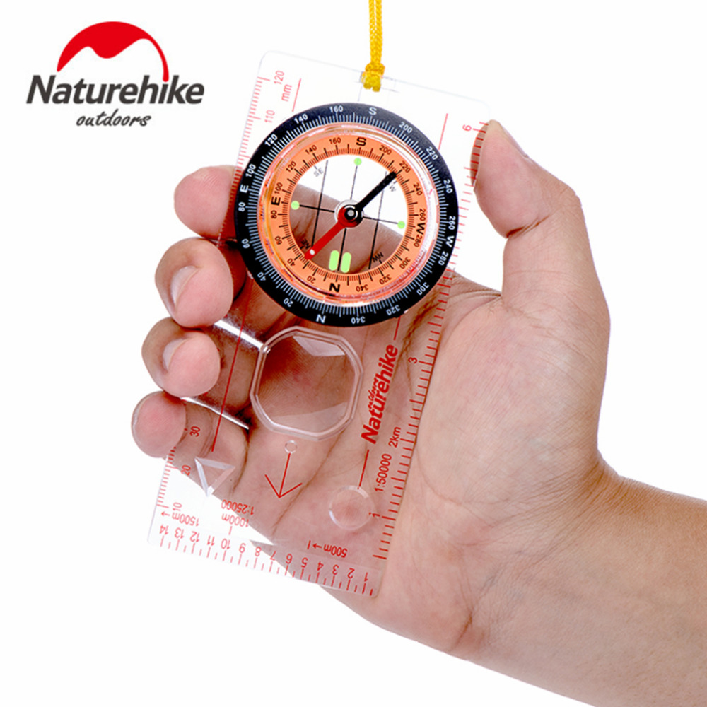 Naturehike Transparent Compass Direction Guide Orienteering Scouts Army Survival Camping Outdoor Hot Sale