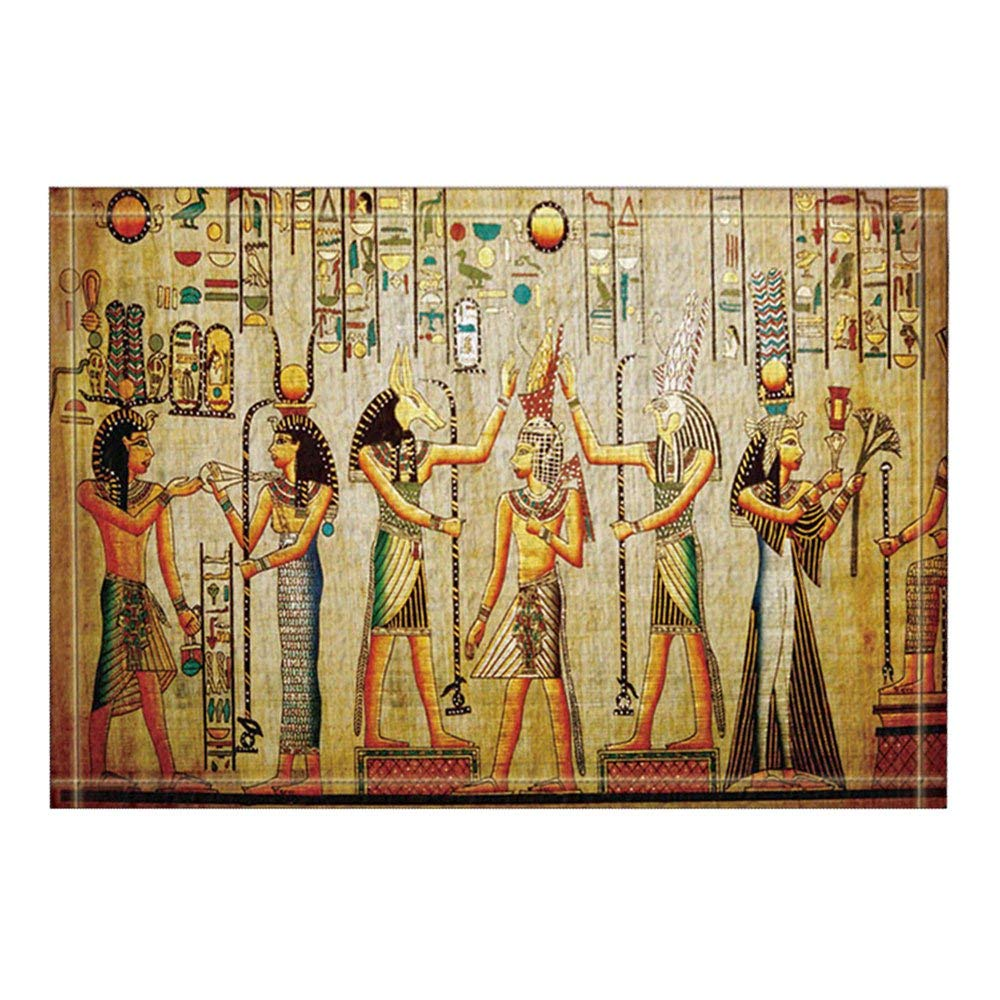 Egyptian Decor Egyptian Pharaoh Bath Rugs Non Slip Doormat ...