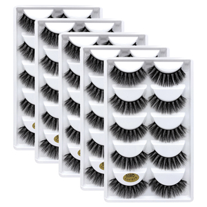 Image 2 - 25 pares 3d vison cílios por atacado natural cílios postiços 3d vison cílios macios extensão cílios falsos cilios g806 g800