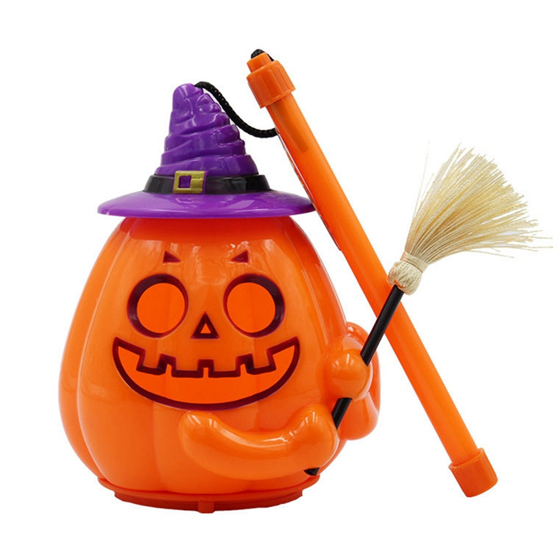 Pumpkin Light Funny  LED Halloween Mini Portable Hangable 3 AA Batteries (without batteries)(China)