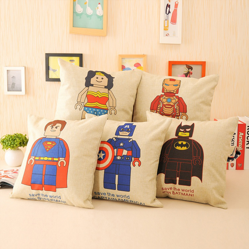 2015 New Avengers Linen Cushions Cartoon Decorative Throw