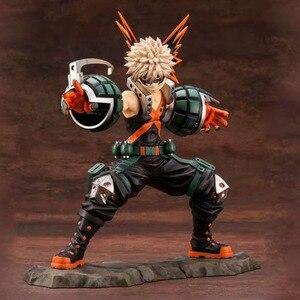Image 1 - Il mio Hero Accademico Bakugou Katsuki Action Figure scala 1/8 figura dipinta Due Viso Fighting Ver. Bakugou Katsuki figura Giocattolo del PVC