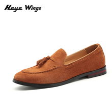 Heye Wings Suede vintage lightweight loafers for men casual dress shoes