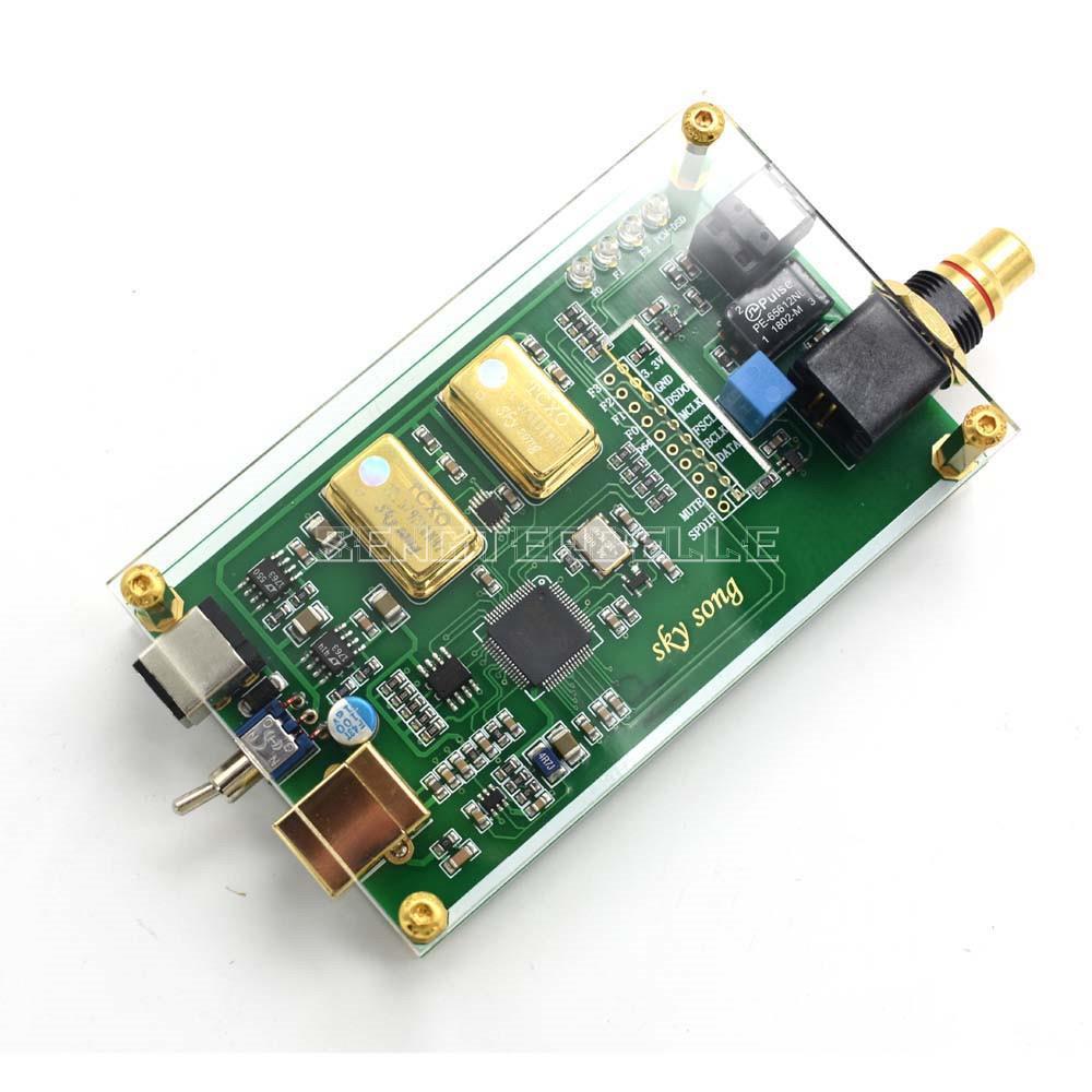 XMOS XU208 Asynchronous USB coaxial fiber output digital interface IIS DSD256 spdif dop64 with Acrylic sheet