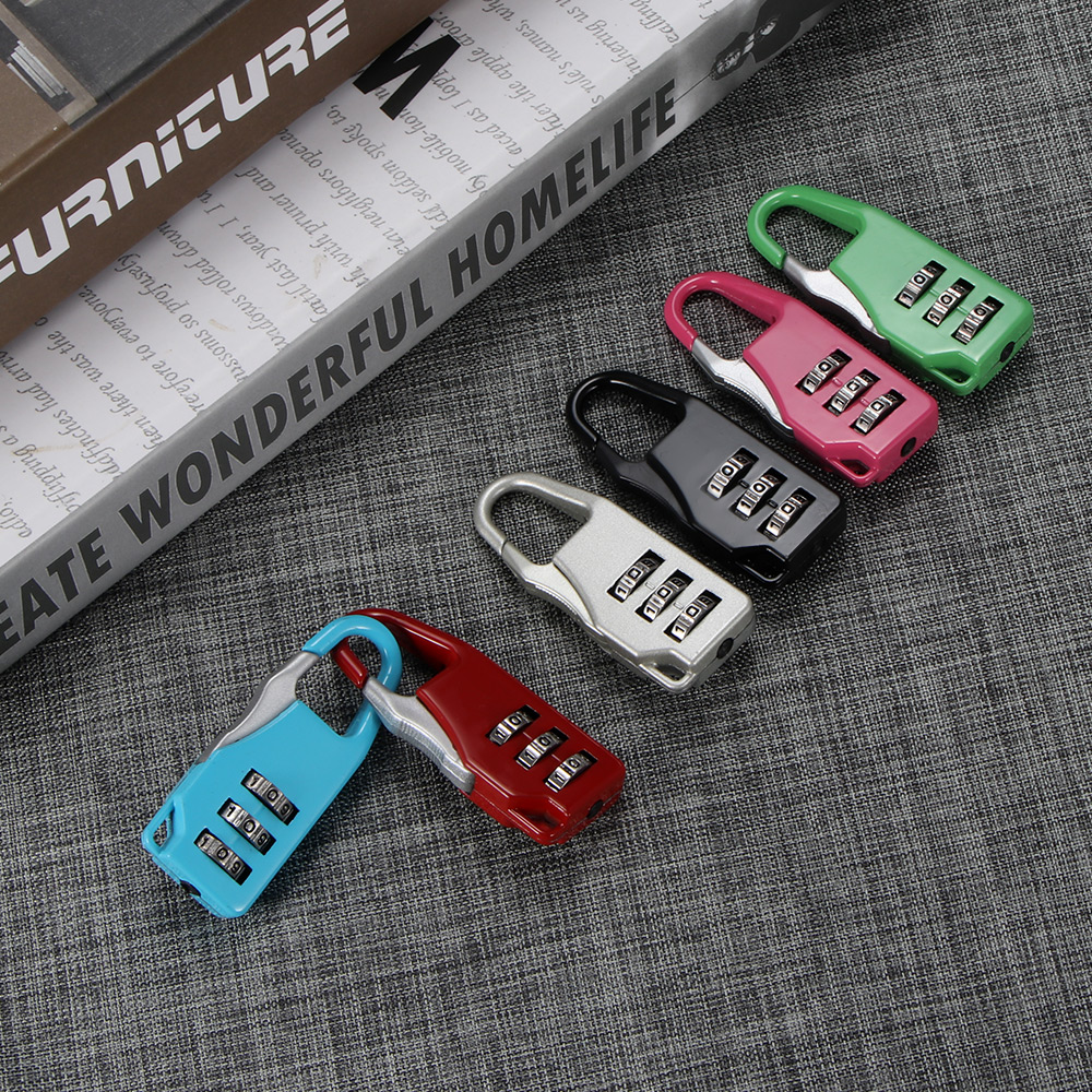 Combination Colorful Password Lock Zinc Alloy Security Lock Suitcase Luggage Coded Lock Cupboard Cabinet Locker Padlock