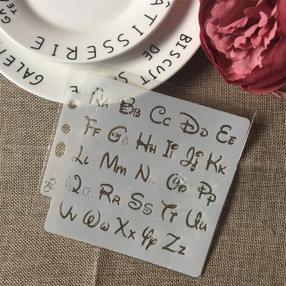 1Pcs 13cm Alphabet Letters S64 DIY Layering Stencils Painting Scrapbook Coloring Embossing Album Decorative Paper Card Template
