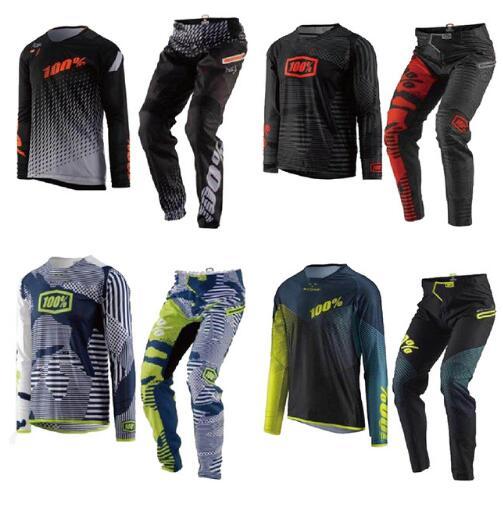 Nuovo 2019 Gear Gara Motocross Combo Da Corsa degli uomini di Dirt Bike Off Road ATV Pant & Jersey