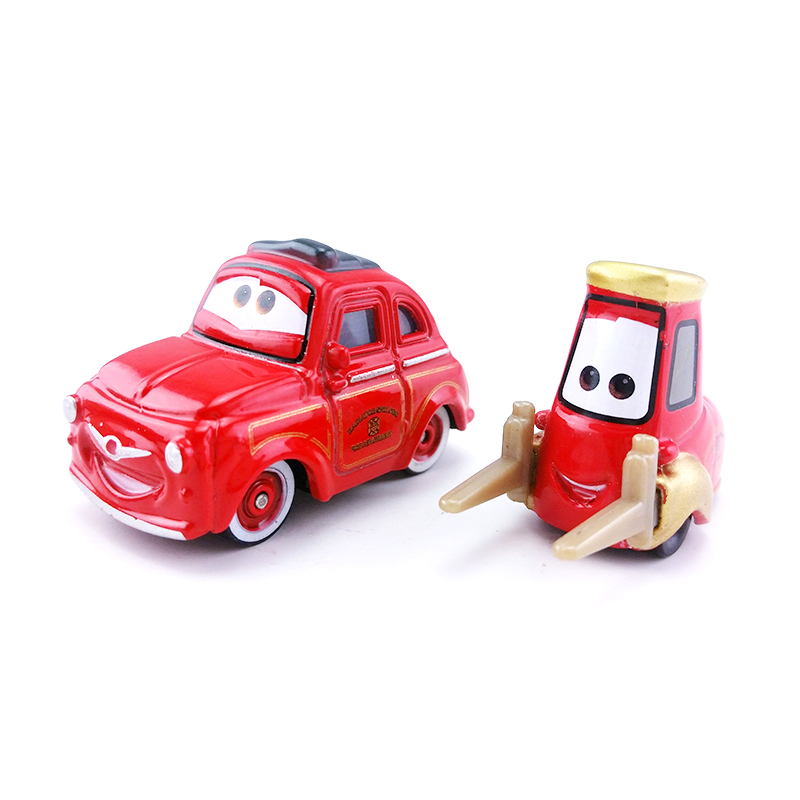 Disney Pixar Cars 2 Red Luigi Guido Fire Engine Rescue Squad 1