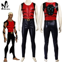 Young Justice Aqualad cosplay costume Carnival Halloween costumes for adult men superman costume custom made