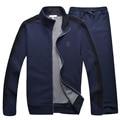 Bonito conjunto de roupas camisola dos homens de lazer confortável suave outerwear frete grátis