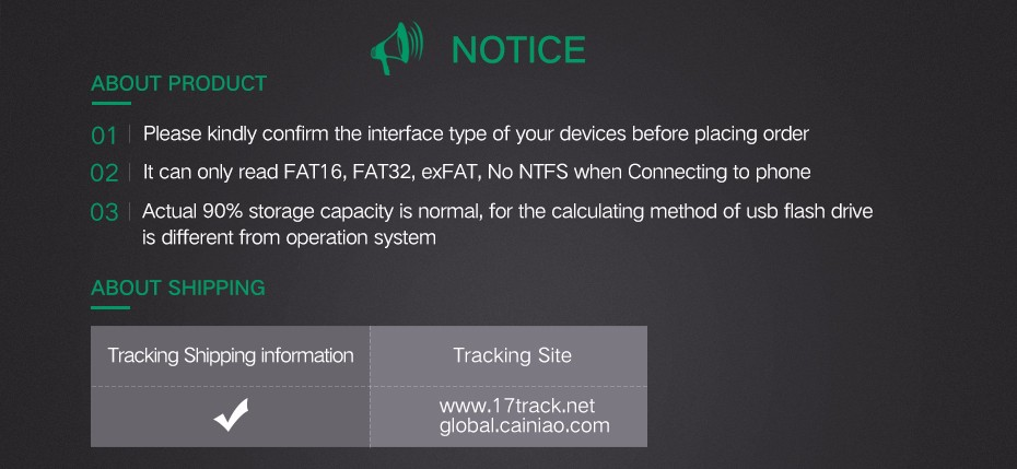 usb flash drive-Notice