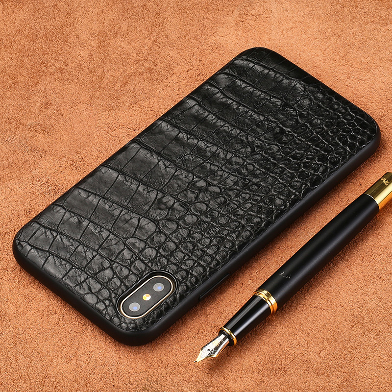 Fashion Crocodile belly skin phone case for iPhone X luxury Genuine leather phone case all-inclusive phone protection caseFashion Crocodile belly skin phone case for iPhone X luxury Genuine leather phone case all-inclusive phone protection case