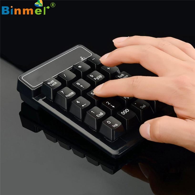 Binmer USB Receiver Wireless 19 keys Numeric Keypad mini Keyboard for Mac & Laptop PC Number Pad Aug31