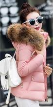 Fake fur collar Parka down cotton jacket 2017 Winter Jacket Women thick Snow Wear Coat Lady Clothing Female Jackets Parkas