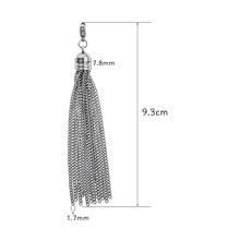 1pc moda borla balançar prata aço inoxidável borla cadeias diy descobertas apto brincos de gota colar chaveiro bolsa